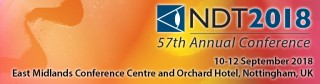 NDT2018 website page banner